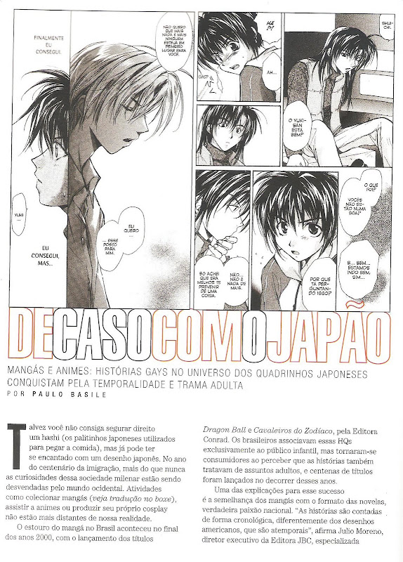 revista DOM matéria yaoi