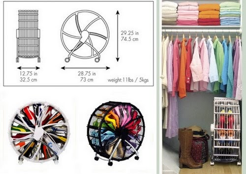Färg + Form = Creativity! För garderoben smart skoförvaring
