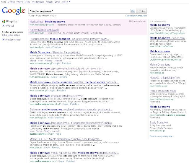 meble sosnowe google