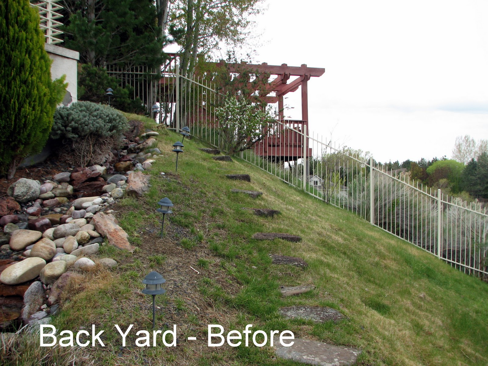 Steep Backyard Ideas : back yard steep hillside landscaping ideas photos