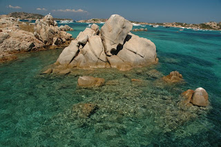 Colour of sea in Sardinia Archipelago di maddalena