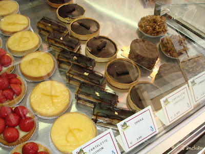 French patisserie chocolate cakes