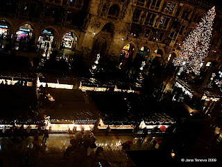 Munich Christkindlmarkt air view