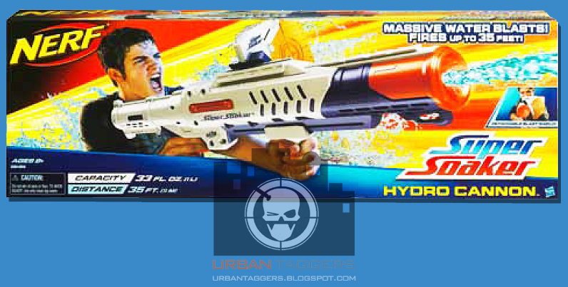 Urban Taggers December - This is the worlds biggest super soaker and it shatters windows