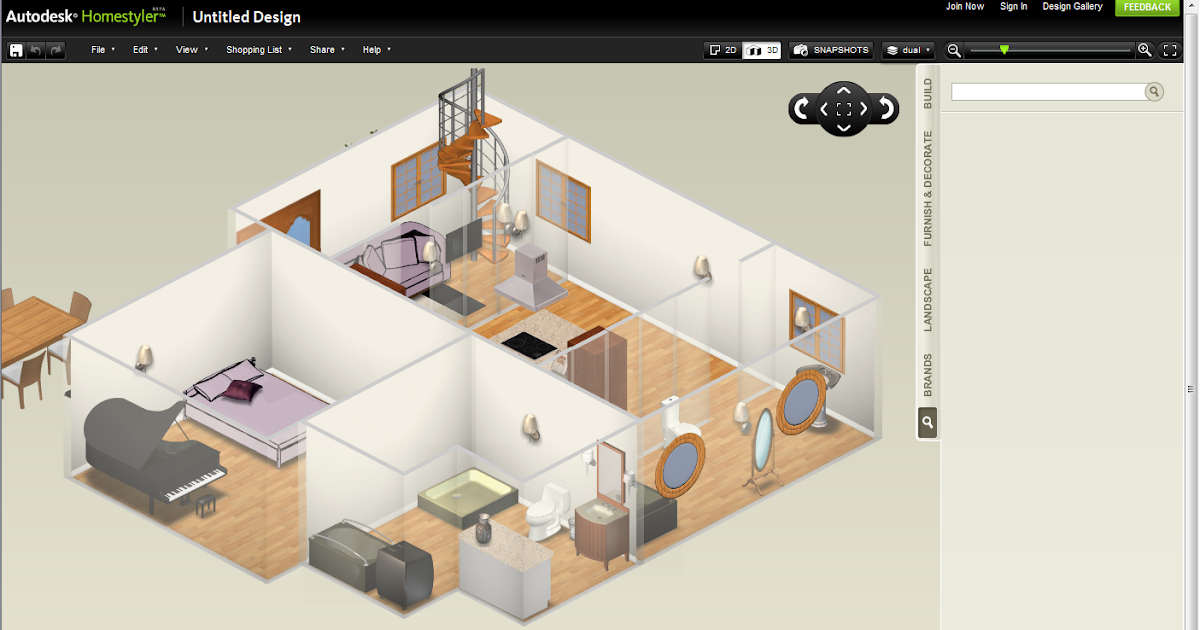 Ideate solutions plan visualize share your design with for Design your own house homestyler