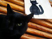 Gato preto trás Sorte