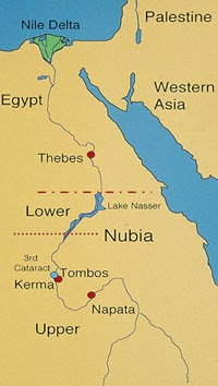 World History To Nubia And The Americas - Map of egypt nubia