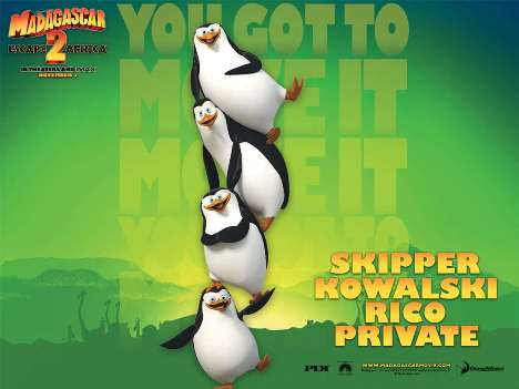 Penguins of Madagascar Green Background