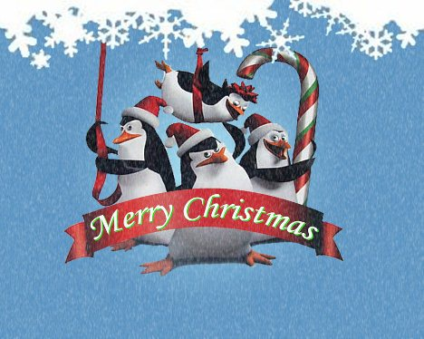 Penguins of Madagascar Christmas Wallpaper