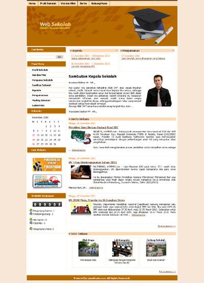 Web sekolah mudah dalam pengelolaan dan cocok untuk semua sekolah.
