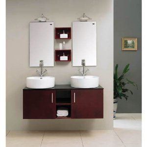 Bathroom Double Sink Vanity on Bathroom Double Vanity Sink Basin Cabinet Set   Sink Wall Mounted