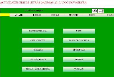 Actividades creadas con Edilim.Letras Galegas 2010. Uxio Novoneyra.