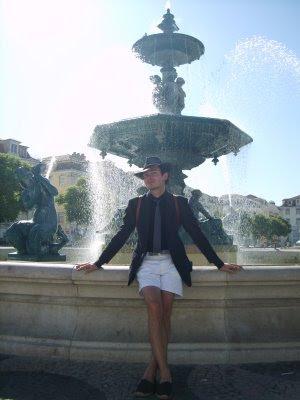 Shirt - Hawes & Curtis Espadrilles - Mallorcan market. White shorts - GAP