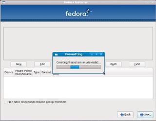 install fedora step 17