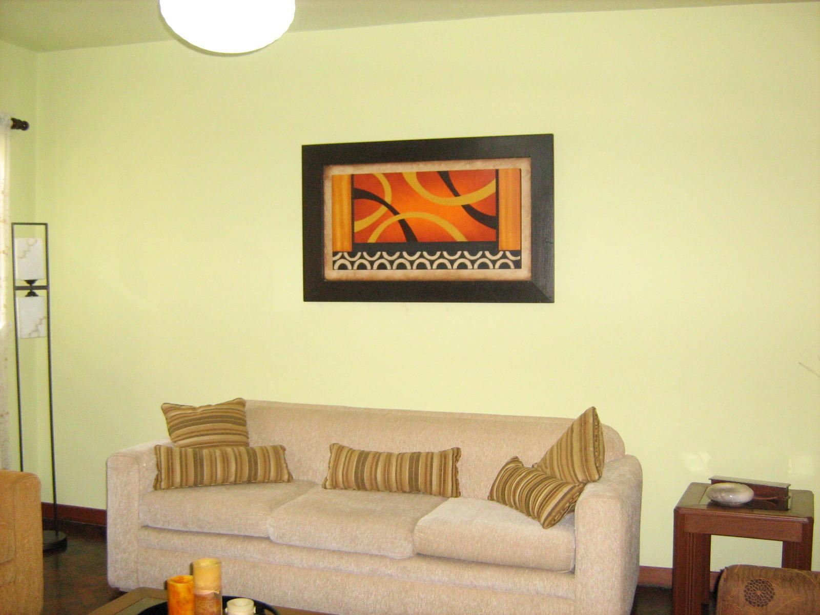 Pintura decorativa moderna con marco 2 marco de madera de - Pinturas modernas para sala ...