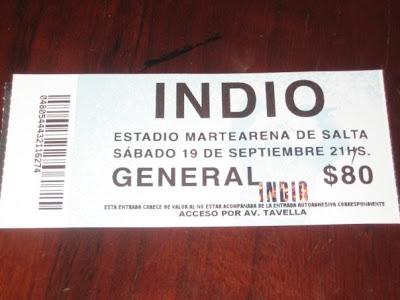 viajes Indio Solari en Salta 19/09/09