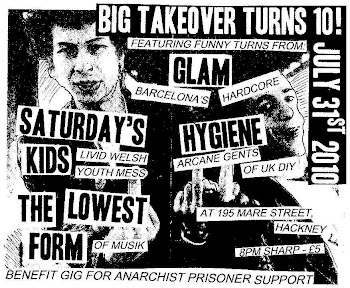 BENEFIT  GIG FOR ANARCHIST PRISONERS