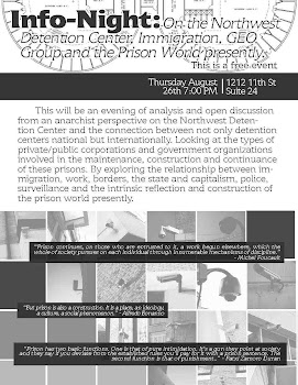 Info-Night: On the Northwest Detention Center, Immigration, GEO Group, and the Prison World present