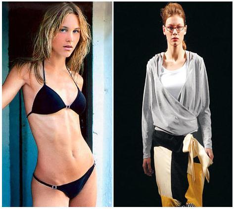 eva herzigova anorexic. of anorexia: Eliana (left)