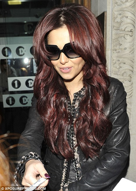 cheryl cole 2011 hot. Red hot: Cheryl Cole arrived