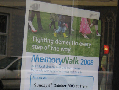 'Fighting dementia every step of the way' poster