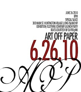 <strong>AOP</strong><br> Art Exhibition &amp; Co. Release<br>Location:303 Main St. Huntington