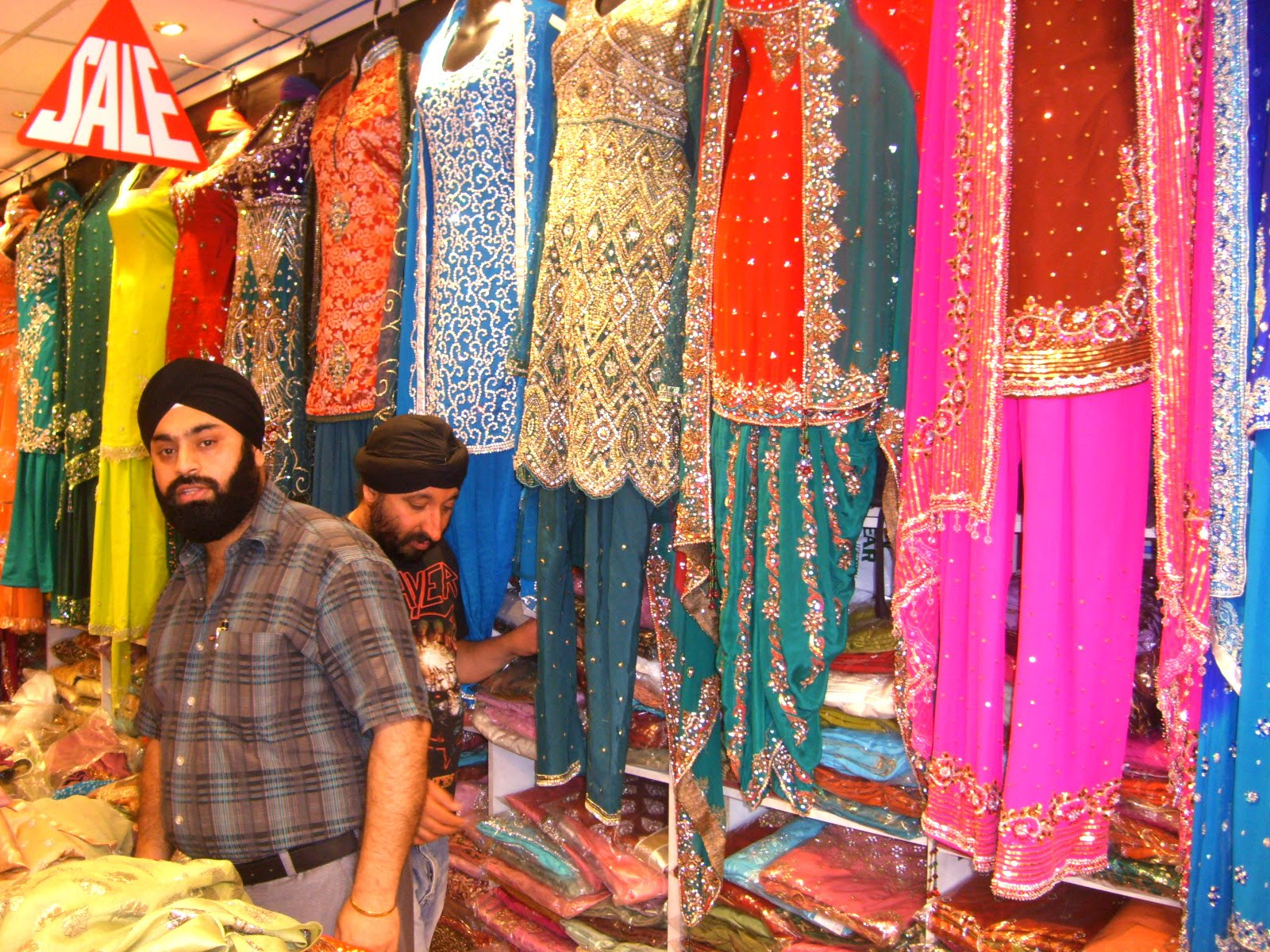 Southall asian shops in