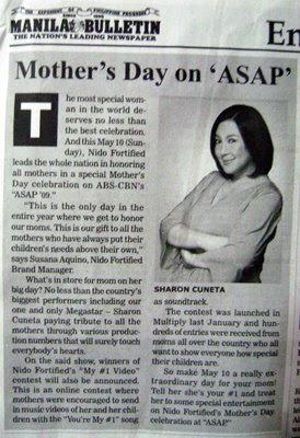 Manila Bulletin newspaper clip