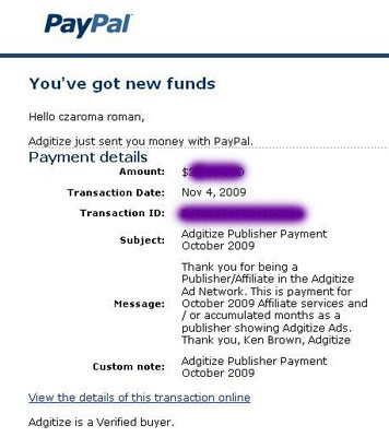 paypal adgitize payment october