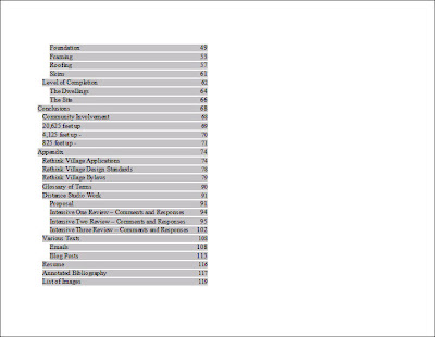 Apa 6th edition table of contents