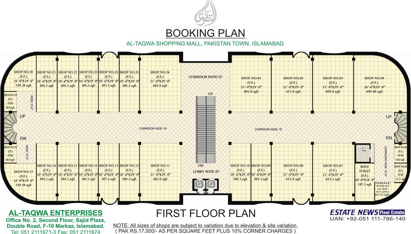 8 Shopping Complex Plan