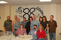 After lunch. Front: Me, Lloyd and Lorrie Back: Sam, John Reinke, Galen, Bart, Beth, Brad, Sharon, Gina and John