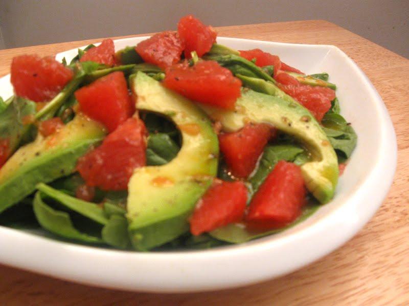 Lo-Fi Food: Grapefruit, Avocado and Spinach Salad