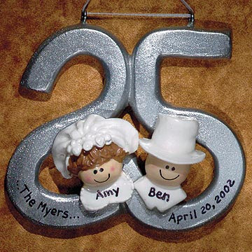 Update yourself with 25th Wedding Anniversary Ornament Anniversary Gift
