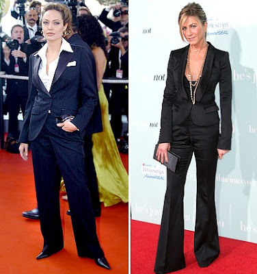 Angelina Jolie Jennifer Aniston Copying, Who looks better Angelina Jolie or
