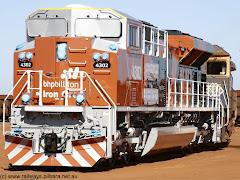 Locomotora EMD SD70ACe/lc moderna de los ferrocarriles australianos