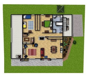 Simple One Story House Plans, Small Simple House Plans, Passive