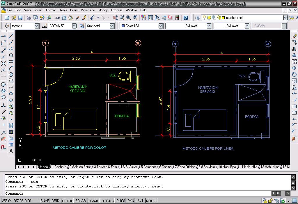 Autocad calibre grosor o calidad de las lineas - El color en la arquitectura ...