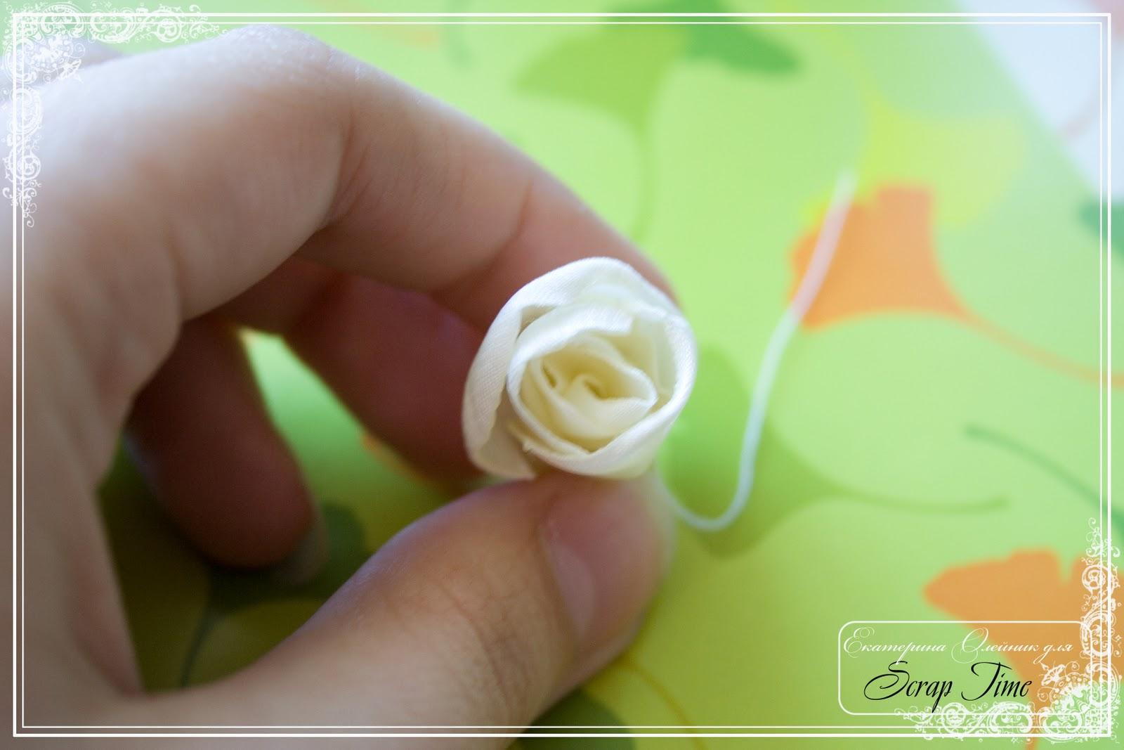 Роза из ткани роза мастер класс своими руками