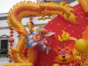Look at those beautiful Chinese New Year Floats!
