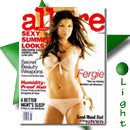 Fergie em lingerie na ALLURE de Julho