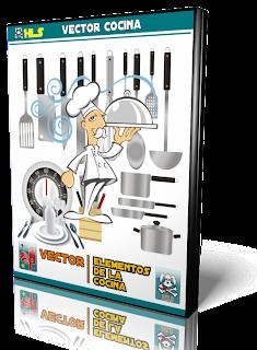 Hls elementos de cocina vector formato eps for Elementos cocina