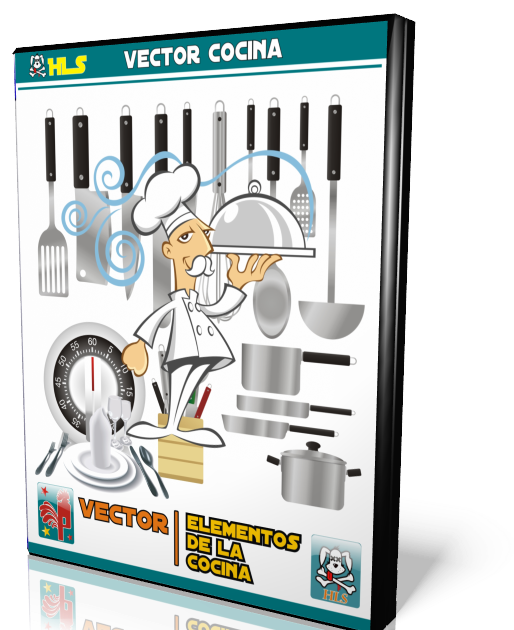 Hls hls elementos de cocina vector for Elementos cocina