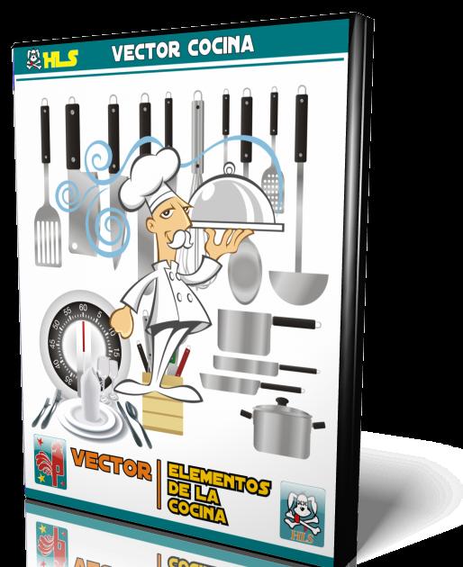 Hls hls elementos de cocina vector for Elementos de cocina