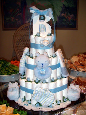 baby boy diaper cakes instructions