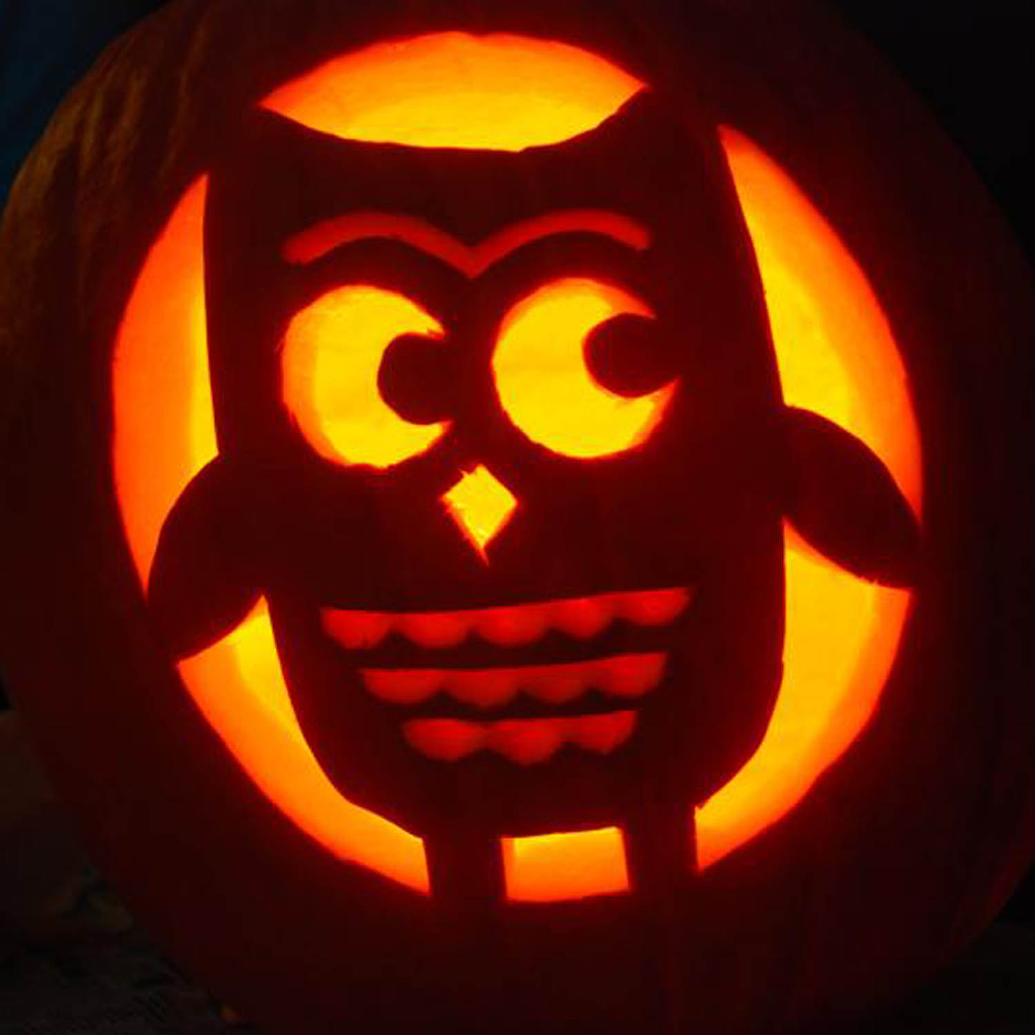 The great pumpkin for Pumpkin carving ideas owl