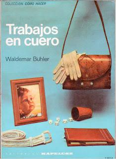 libro de artesanía en cuero hecho a mano