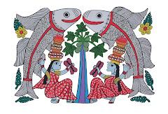 Mithila Art (Jhijhiya Dance)