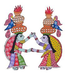 Mithila Art(Jhijhiya Dance)