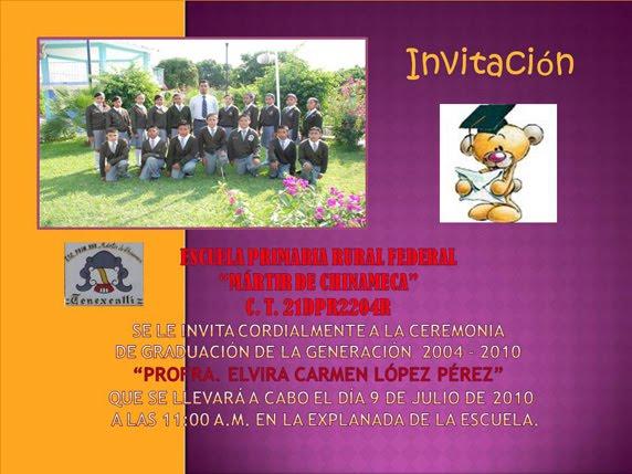 Invitación para clausura secundaria - Imagui